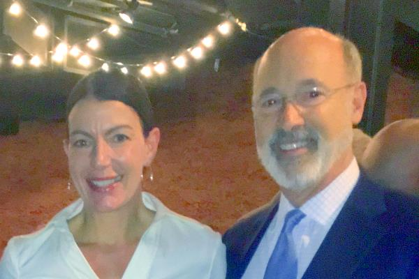 Tarah with Governor Tom Wolf
