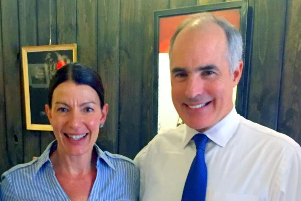 Tarah with Senator Bob Casey